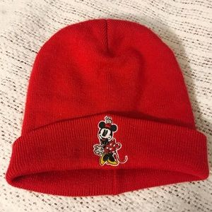 Red Minnie Mouse Beanie Hat